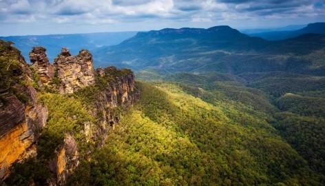 Die Drei Geschwister in den Blue Mountains - Ein umwerfender Ausblick vom Echo Point!