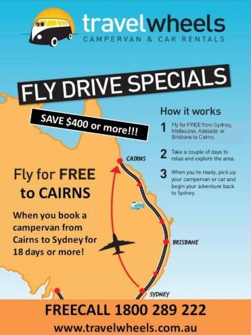 Fly-Drive-Cairns-SyFly Drive Angebote für Campervananmietungen
