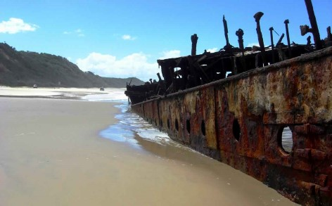 Fraser Island - Schiffswrack