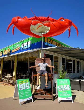 Die gigantische Krabbe