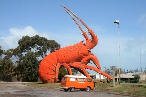 """Besuche """"The Big Lobster"""" mit einem Wohnmobil von Travelwheels"""