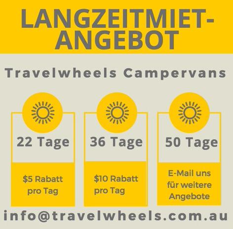 Langzeitmiet-Angebote für Camper mieten in Australien