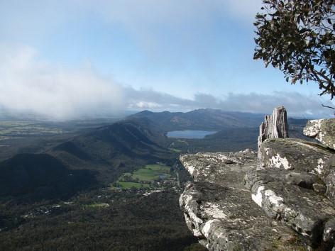 """Ausblick von der Spitze der """"Balconies"""" im Grampians National Park"""
