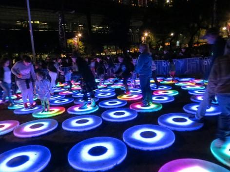 Interaktive Kunstwerke der Vivid in Sydney