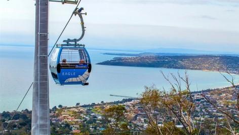Kabelbahn in Dromana - Eagle Skylift Arthurs Seat