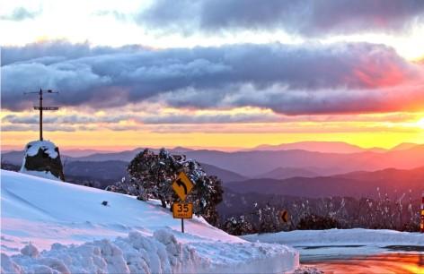 Der Great Alpine Way bietet einige spektakuläre Sonnenuntergänge