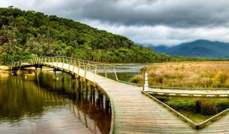 Wilsons Promontory Foot Bridge - Der Startpunkt vieler toller Wanderwege